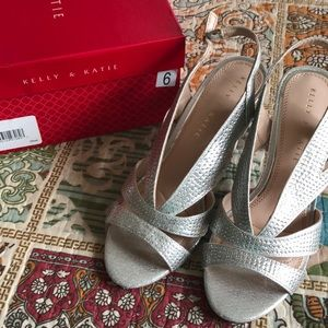 NIB Silver Sandals Wedding